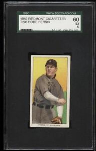 1909-11 T206 Hobe Ferris Piedmont 150 St. Louis SGC 60 / 5 EX