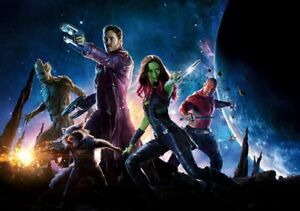 GUARDIANS-OF-THE-GALAXY-Movie-PHOTO-Print-POSTER-Textless-Film-Art-Marvel-002