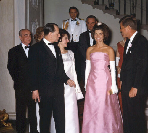 L4023 1962 John F Kennedy /& Jackie Kennedy photo May 11 White House