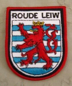 Roude-Leiw-Luxemburg-Aufnaeher-Patch-8-x-6-cm-NEU-A54v