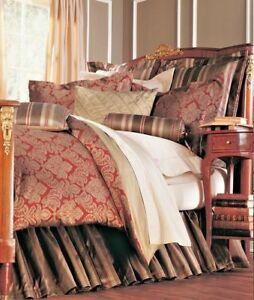 Legacy Home Neiman Marcus Horchow Gavalia Claret 4 Pc Silk Blend