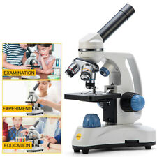 New Swift 40x 1000x Compound Microscope Student School Monocular Head Dual Light