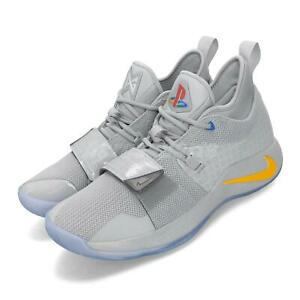 factory authentic b25ec d3a35 Details about Nike PG 2.5 Playstation EP PS Paul George Grey Yellow Men  Shoes BQ8391-001