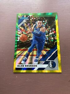 Jalem-Brunson-Green-Yellow-Laser-2019-20-Panini-Donruss-Basketball