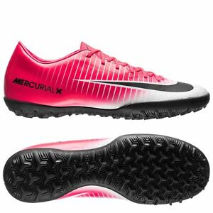 Nike Mercurial Victory VI TF Turf 2017 Soccer Shoes New White Pink ... 964abb65a8