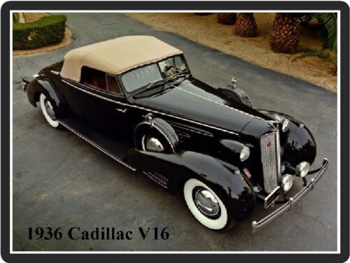 1936 Cadillac V16 Refrigerator Magnet