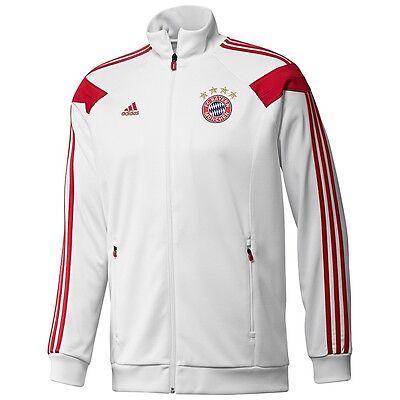 Adidas Bayern Monaco Anthem Pista Top Giacca Bianco/Rosso | eBay