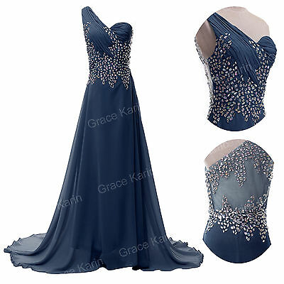 GK BEADED MAXI DRESS Long Bridesmaid Wedding Evening Prom Dresses Plus Size Blue