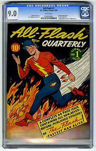Very-Rare-Golden-Age-Comic-All-Flash-1-Summer-1941-DC-CGC-9-NM-Near-Mint
