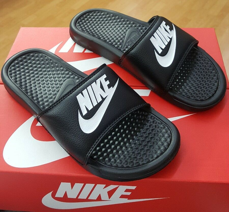 NIKE BENASSI JDI 343880 090 BLACK/WHITE MEN US SZ 10