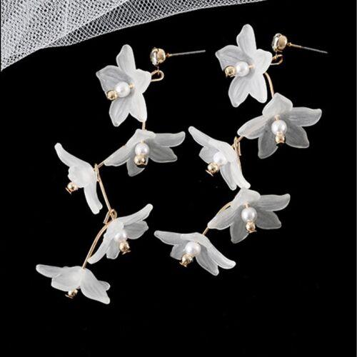 Belle Femmes Filles Fleur boucle d/'oreille pampille mariage oreille Goutte Crochet Bijoux Cadeaux