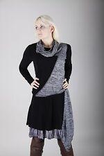 Designer Damen Stiefelkleid Lagenlook Kleid Dress Strickkleid Tunika S 36 38 NEU
