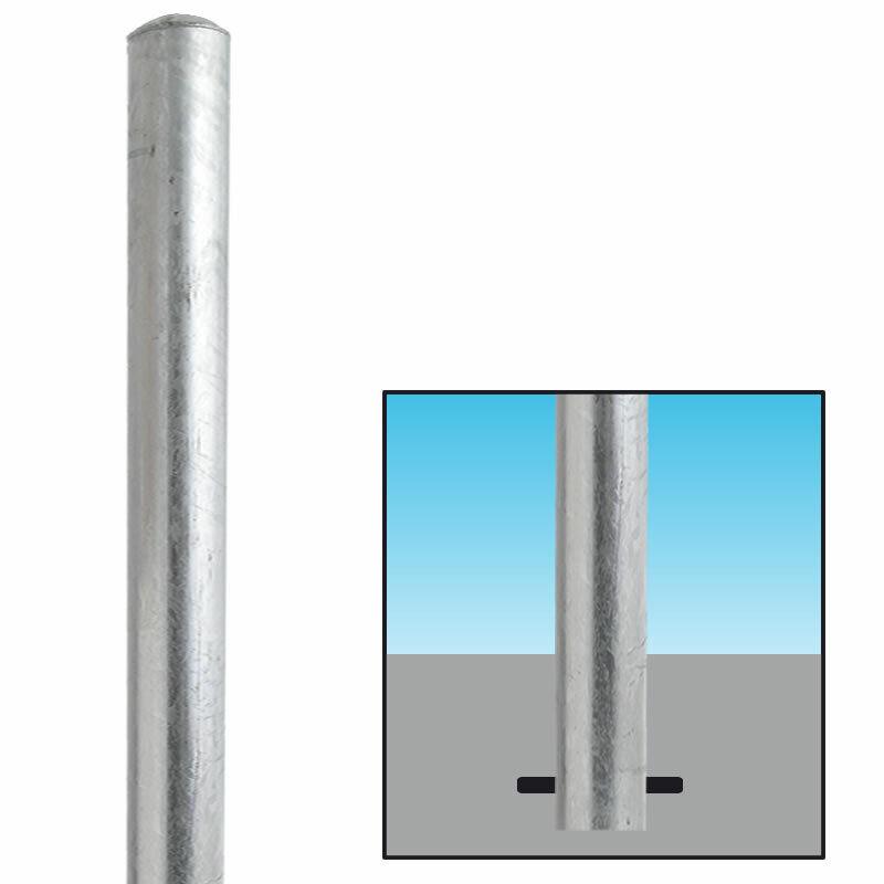 Absperrpfosten verzinkt Ø100mm zum Einbetonieren 101883