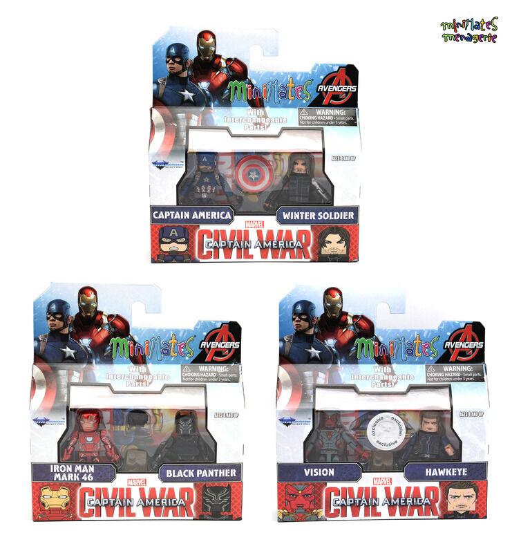 Marvel Minimates TRU Toys R Us Captain America Civil War Movie Complete Set