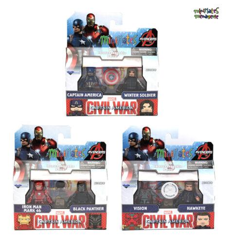 Marvel Minimates TRU Toys R Us Captain America guerre civile Film Jeu Complet