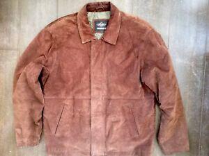 Cooper Lee Veste Vintage Hommes Marron Bomber Veste L Daim En Taille Biker 5qr00dcW