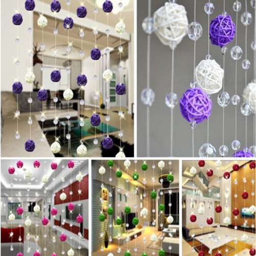 50PCS 3cm Mix color Wedding Decorative Rattan Ball Christmas Home Ornament red