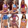 Womens Sexy High Neck Push Up Padded Bra Halter Bikini Bathing Swimwear Swimsuit