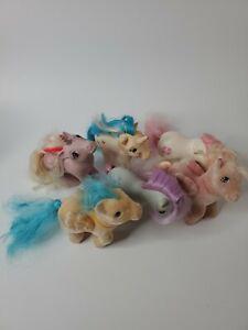 Vintage-My-Little-Pony-MLP-G1-Lot-of-6-Ponies-So-Soft-Medley-Unicorn
