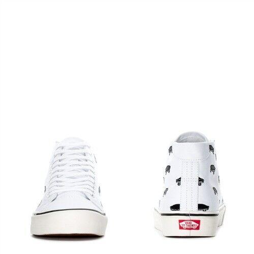 VANS COURT MID MID MID SALTON CANVAS SKATE Uomo scarpe bianca nero VN0A3MUEQFM Dimensione 10 NEW c887e1