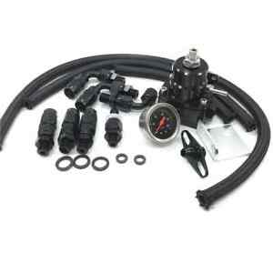 Universal-Adjustable-Fuel-Pressure-Regulator-Kit-100psi-Gauge-AN-6-Fitting-End