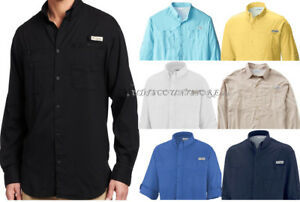 NEW-COLUMBIA-MEN-PFG-TAMIAMI-II-LONG-SLEEVE-SHIRTS-XS-S-M-L-XL-XXL