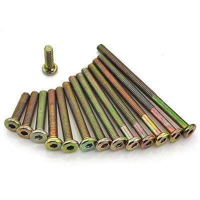 Furniture screws M6 M8 Pan Head Hex socket Galvanization Bolts Wood screws Qty10