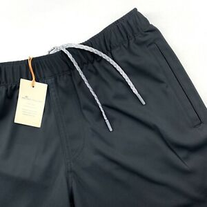 Peter-Millar-Crown-Sport-Knit-Drawstring-Performance-Sport-Shorts-Black-M-L-XL