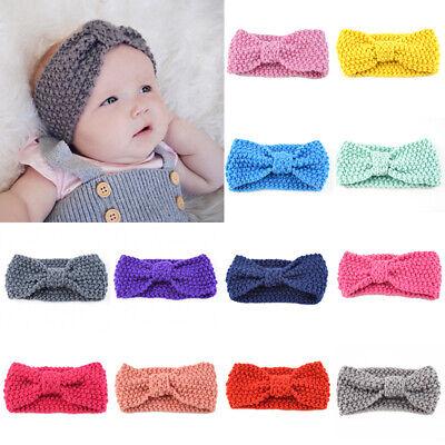 Cute Kid Girl Baby Toddler Crochet Bow Headband Hair Band Accessories Winter 1Pc