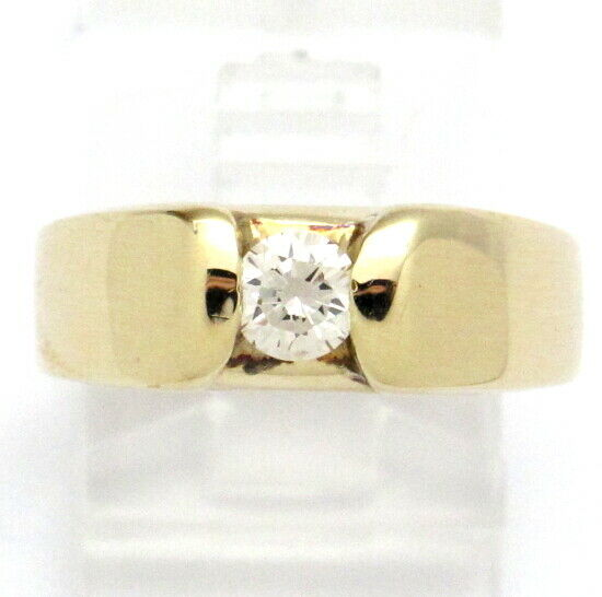 14k Yellow gold Round Diamond Solitaire Engagement Ring .36ct