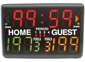 macgregor sk2229r multisport indoor scoreboard with remote ebay rh ebay com