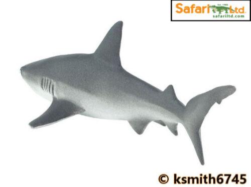 Safari grigio Reef Squalo giocattolo in plastica solida MARE PESCI Selvatici Animali Marini NUOVO