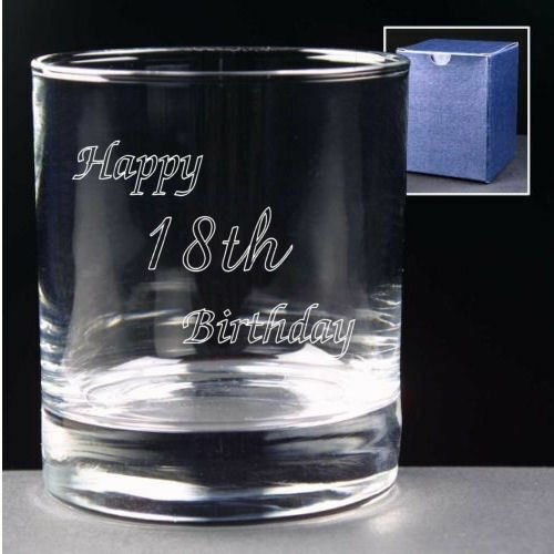 Personalised 8oz Whisky Glass Engraved 18th 21st 30th Birthday Gift /& Gift Box