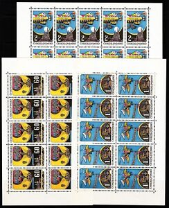 Czechoslovakia-Sc-C72-4-NH-Minisheets-of-1968-Expo-Space