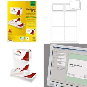 Details Zu Sigel Lp838 Klapp Visitenkarten 3c 50 Stück 10 Blatt Beidseitig Bedruckbar