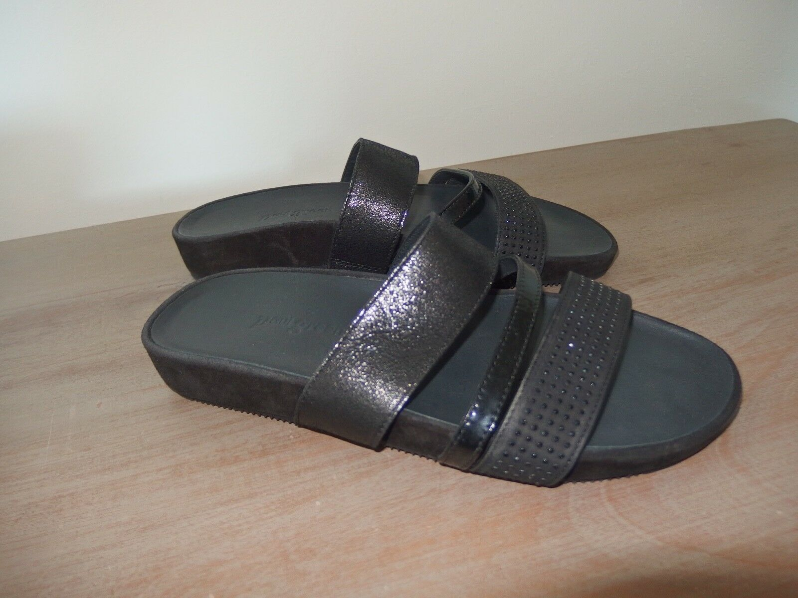 Paul Green Damen Pantolette Sandalee schwarz Echtleder Gr. 38 neuwertig
