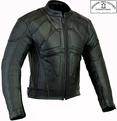 DARK RIDER STYLE FINE QUALITY MENS CE MOTORBIKE / MOTORCYCLE LEATHER JACKET