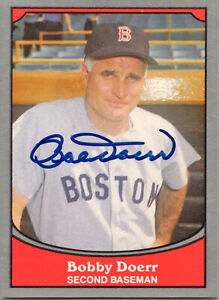 Bobby Doerr Signed 1990 Pacific Baseball Card