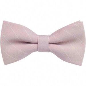 a8e82b6a30bd Vintage Wedding Dusky Pink Stripe Pre-Tied Mens Bow Tie. Great ...