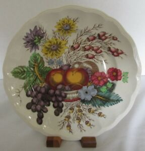 "COPELAND SPODE REYNOLDS OLD MRK FRUIT PAT 8 5/8"" DIAMETER LUNCH PLATE (14 AVAIL)"