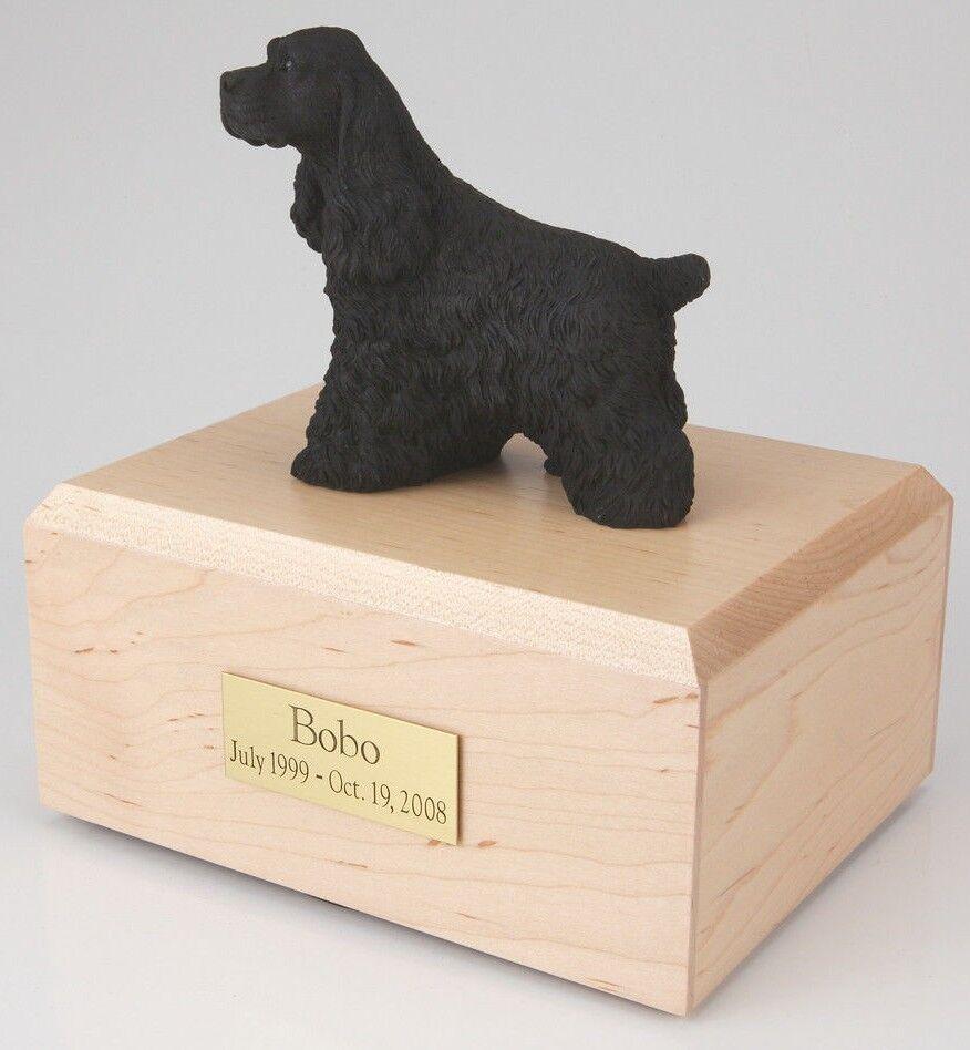 nero Cocker Spaniel Pet Funeral Cremation Urn Avail in 3 Diff Colores & 4 Dimensiones