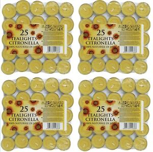 100-x-Prices-Citronella-Tealight-Candles-T-Light-Gardens-Patio-Wasp-Quality-New
