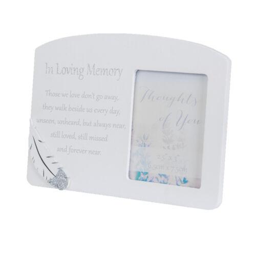 Memorial Cadre Photo avec aimant message /& Feather attachement en Loving Memory