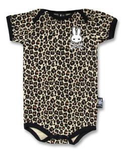BABY-ROMPER-ROCKABILLY-LEOPARD-PRINT-ANIMAL-FUNKY-GIFT-BABY-SHOWER-SIX-BUNNIES