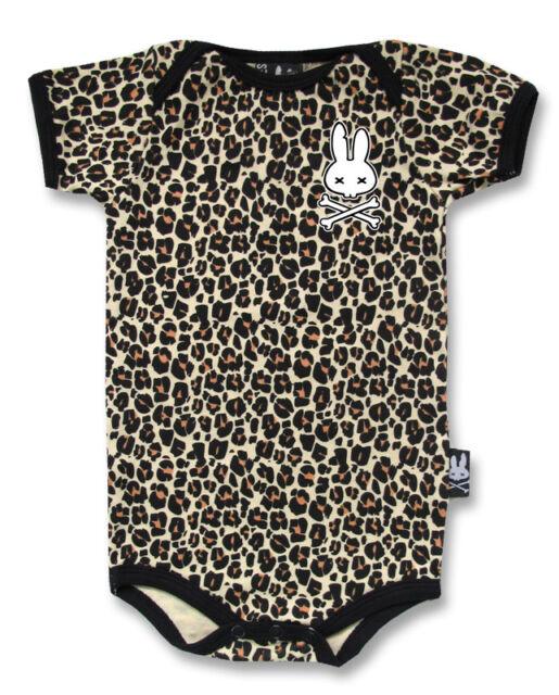 BABY ROMPER ROCKABILLY LEOPARD PRINT ANIMAL FUNKY GIFT BABY SHOWER SIX BUNNIES