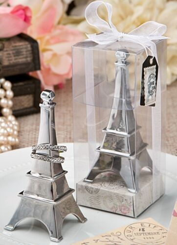 """3 1//2/"""" x 1 1//2/"""" square at the base Ring Holder Unique Boxed Eiffel Tower"""