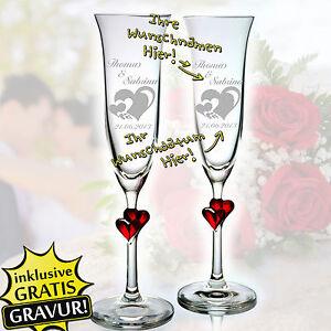 2 Sektgläser mit Hochzeit Gravur Personalisierter Geschenk | eBay