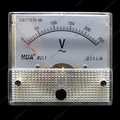 AC 250V Analog Voltmeter Panel Pointer Volt Voltage Meter Gauge 85L1 0-250V AC