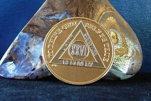 Gold Silver Bi Plated Alcoholics Anonymous AA 26 Year Medallion Coin Chip BSP