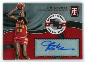 2017-18 JIM CHONES 27/99 AUTO PANINI TOTALLY CERTIFIED AUTOGRAPHS